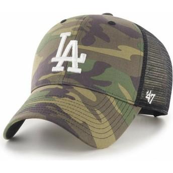 Cappellino trucker mimetico con logo bianco MVP Branson 2 di Los Angeles Dodgers MLB di 47 Brand
