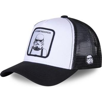 Cappellino trucker bianco e nero Stormtrooper BC Star Wars di Capslab