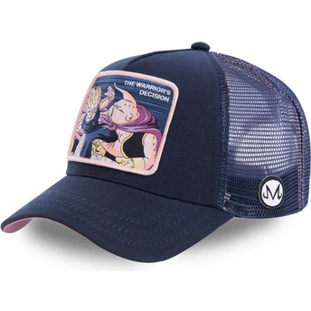 Cappellino trucker blu marino Vegeta Vs Buu Warriors Decision FIN1 Dragon Ball di Capslab