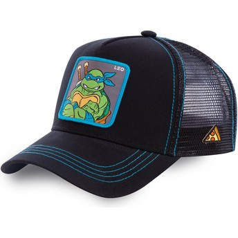 Cappellino trucker nero Leonardo LEO Tartarughe Ninja di Capslab