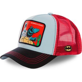Cappellino trucker blu e rosso Batman & Robin MEM1 DC Comics di Capslab