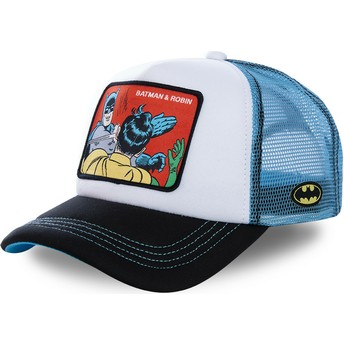 Cappellino trucker bianco e blu Batman & Robin MEM4 DC Comics di Capslab