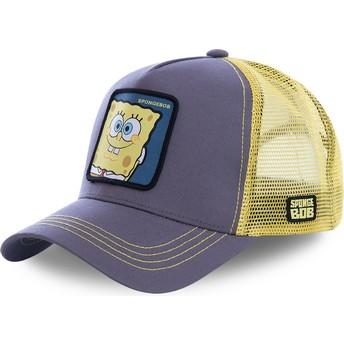 Cappellino trucker grigio e giallo Spongebob SPO di Capslab