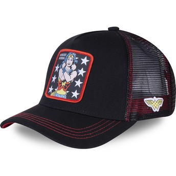 Cappellino trucker nero Wonder Woman WON2 DC Comics di Capslab