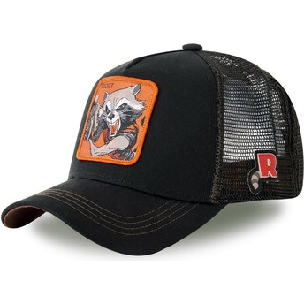 Cappellino trucker nero Rocket Raccoon ROC4 Marvel Comics di Capslab