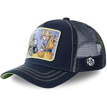 Cappellino trucker blu marino Cell Vs Goku GAM1 Dragon Ball di Capslab