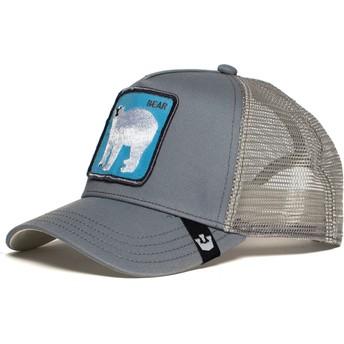Cappellino trucker grigio orso polare Bearrr di Goorin Bros.