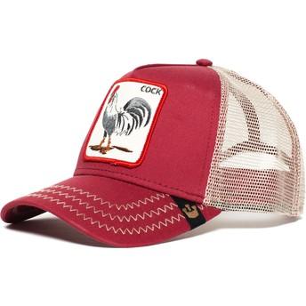 Cappellino trucker rosso gallo Rooster di Goorin Bros.