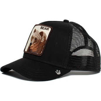 Cappellino trucker nero orso Big Bear di Goorin Bros.