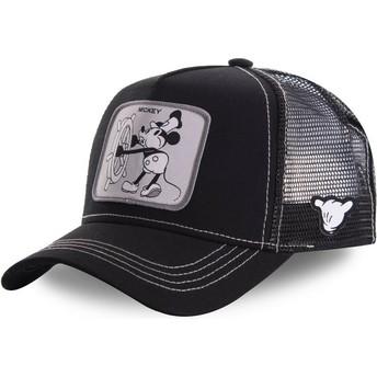 Cappellino trucker nero Topolino Vintage VIN2 Disney di Capslab