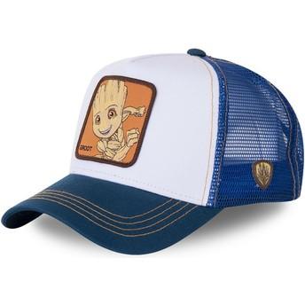 Cappellino trucker bianco e blu Baby Groot BGR2 Marvel Comics di Capslab