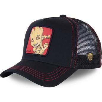 Cappellino trucker nero Baby Groot BGR3 Marvel Comics di Capslab