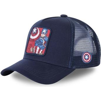 Cappellino trucker blu marino Capitan America CPT1 Marvel Comics di Capslab