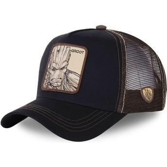 Cappellino trucker nero e marrone Groot GRO2 Marvel Comics di Capslab
