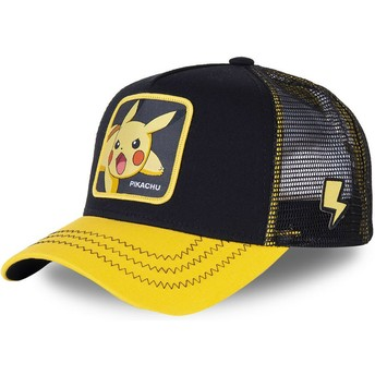Cappellino trucker nero e giallo Pikachu PIK6 Pokémon di Capslab