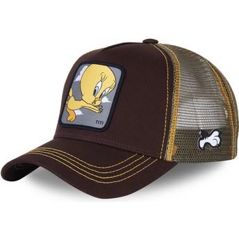 Cappellino trucker marrone Titti TIT1 Looney Tunes di Capslab