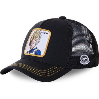 Cappellino trucker nero Vegeta Super Saiyan VE4 Dragon Ball di Capslab