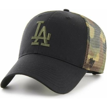 Cappellino trucker nero e mimetico MVP Back Switch di Los Angeles Dodgers MLB di 47 Brand