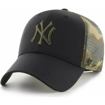 Cappellino trucker nero e mimetico MVP Back Switch di New York Yankees MLB di 47 Brand
