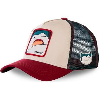Cappellino trucker beige, blu e rosso Snorlax SNO2 Pokémon di Capslab