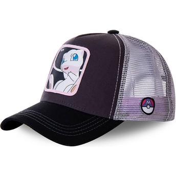 Cappellino trucker nero e bianco Mew MEW3 Pokémon di Capslab