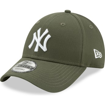 New Era Curved Brim 9FORTY League Essential New York Yankees MLB Green Adjustable Cap