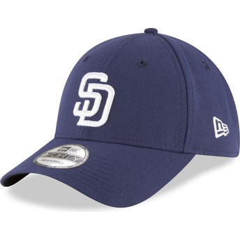 New Era Curved Brim 9FORTY The League San Diego Padres MLB Navy Blue Adjustable Cap