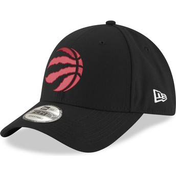 New Era Curved Brim con logo rosso 9FORTY The League Toronto Raptors NBA Black Adjustable Cap
