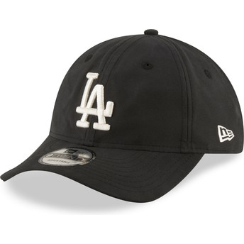 New Era Curved Brim 9TWENTY Nylon Packable Los Angeles Dodgers MLB Black Adjustable Cap