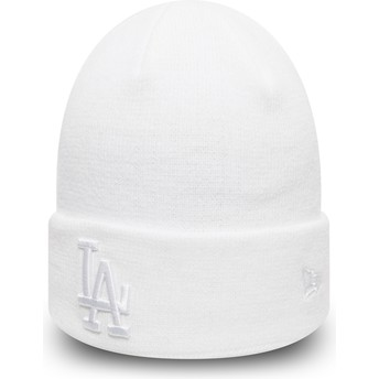 New Era Cuff Knit League Essential Los Angeles Dodgers MLB White Beanie