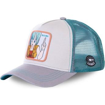 Cappellino trucker bianco, blu e grigio Bulma BUL1 Dragon Ball di Capslab