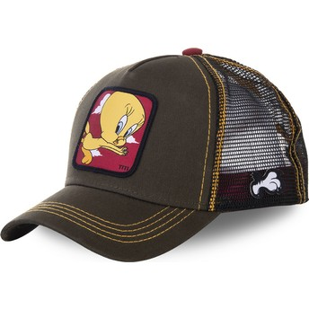 Cappellino trucker verde Titti TIT2 Looney Tunes di Capslab