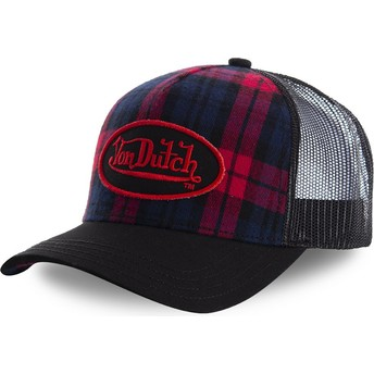 Von Dutch CARB2 Black Check Trucker Hat