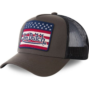 Von Dutch FLAKAK Green and Black Trucker Hat