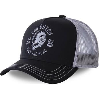Von Dutch HELBLA Black and Grey Trucker Hat