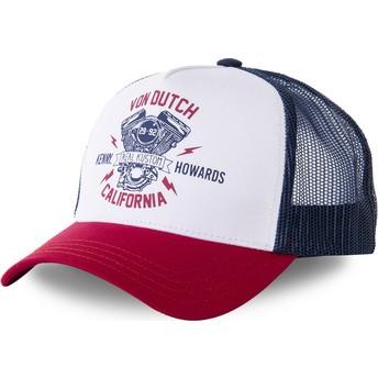 Von Dutch MOTBLU White, Navy Blue and Red Trucker Hat