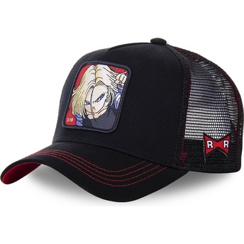 Capslab Android C-18 C18B Dragon Ball Black Trucker Hat