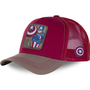 Capslab Captain America CPT3 Marvel Comics Red Trucker Hat