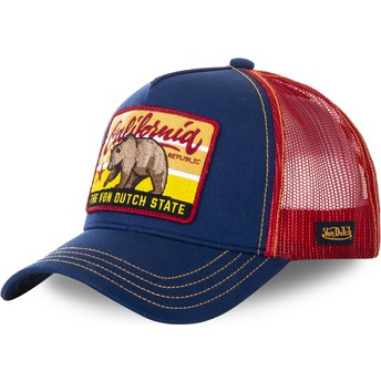 Von Dutch California FOR1 Blue and Red Trucker Hat