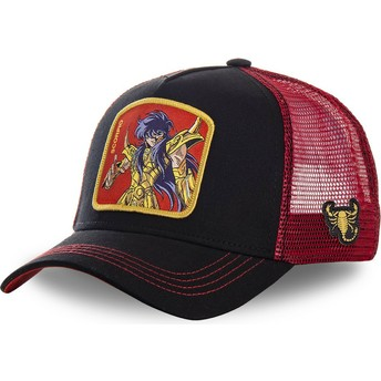 Capslab Scorpio SCO Saint Seiya: Knights of the Zodiac Black and Red Trucker Hat