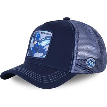 Capslab Mega Man HER3 Blue Trucker Hat