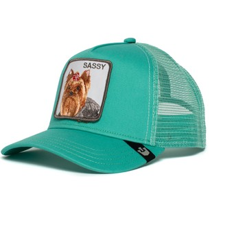 Goorin Bros. Yorkshire Terrier Dog Sassy Lady Green Trucker Hat