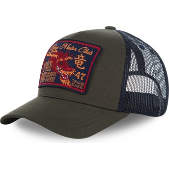 Von Dutch DRAGON2 Green and Blue Trucker Hat