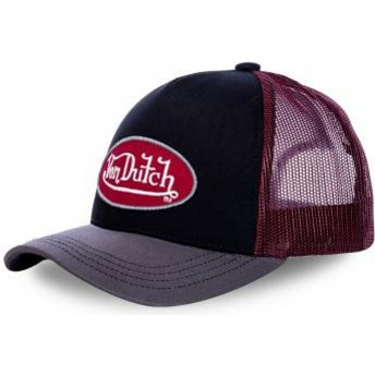 Von Dutch RBA Black, Red and Grey Trucker Hat