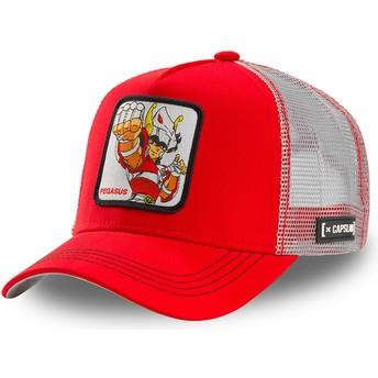 Capslab Pegasus Seiya PEG1 Saint Seiya: Knights of the Zodiac Red and White Trucker Hat