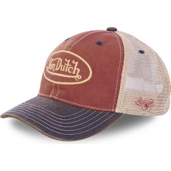 Von Dutch MAC5 Red, White and Navy Blue Trucker Hat
