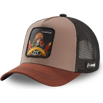 Capslab Space Pirate Captain Harlock ALB CPT3 Brown Trucker Hat