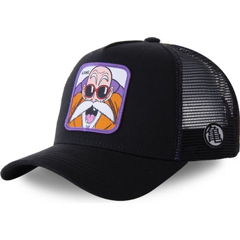 Capslab Youth Master Roshi KID_KAMC Dragon Ball Black Trucker Hat