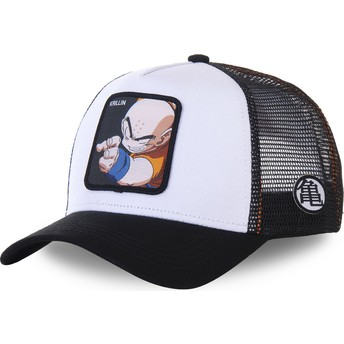 Capslab Youth Krillin KID_KRI Dragon Ball White and Black Trucker Hat