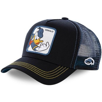 Capslab Youth Donald Duck KID_DON2 Disney Black Trucker Hat